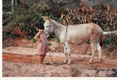 ロバを引く入植者の小さな娘.jpg