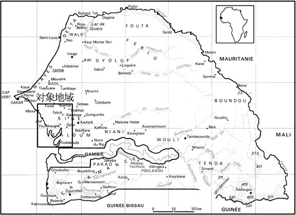四角で囲った地域にサルーム・デルタのマングローブ林がある.jpg