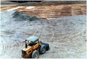 木材を敷きつめ、その上に砂利をかけていく.jpg